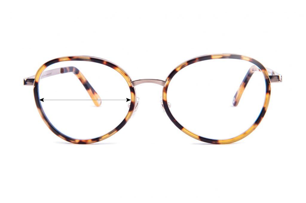 Szerokość soczewki okularowej