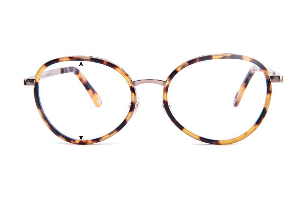 Wysokość soczewki okularowej